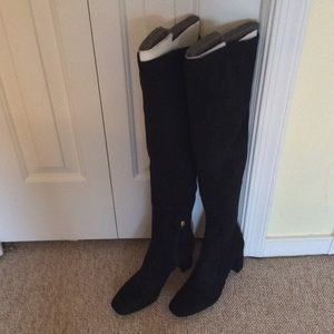Nine West XPERIAN. Over-the-knee black suede boot.